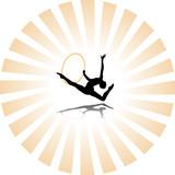 rhythmic gymnastics silhouette poster