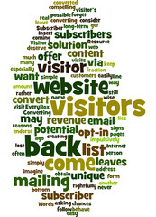 Converting Every Visitor into Subscriber Concept