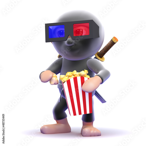 Ninja is at the cinema