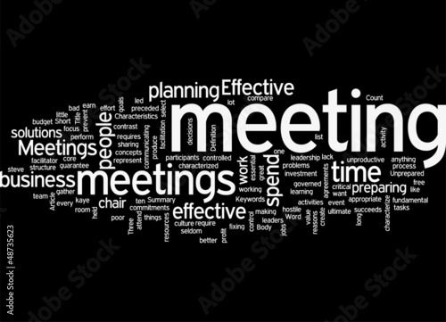 10 Characteristics of Effective Meetings Concept