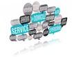 nuage de mots bulles 3d : service à domicile