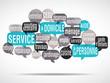 nuage de mots bulles : service à domicile