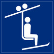Schild blau - Sessellift