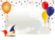Karneval, Helau, Alaf, Luftballons, Konfetti, Werbefläche