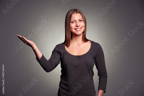 woman holding open palm
