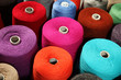 closeup of colorful threads