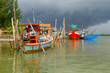 Fishing boats at the river in Koh Kho Khao, Thailand