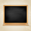 wooden blackboard on grunge background