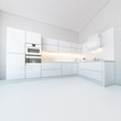 Luxury White Kitchen In Hi-Tech Style