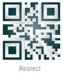 "qr code of ""respect"""