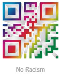 """qr code of """"no racism"""""""