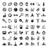 sports and fitnes icons set