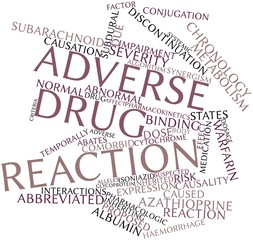 Word cloud for Adverse drug reaction