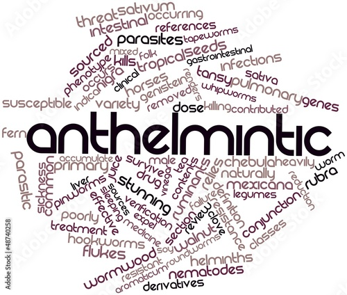 Word cloud for Anthelmintic
