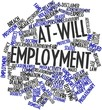 Word cloud for At-will employment