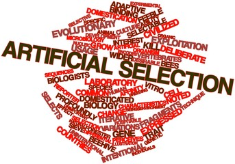 Word cloud for Artificial selection