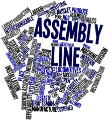 Word cloud for Assembly line