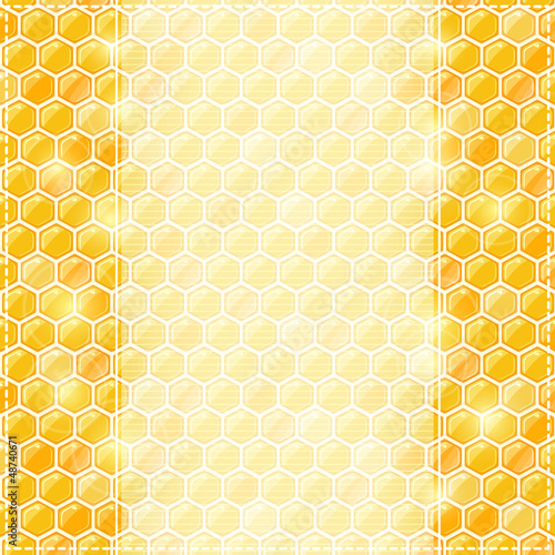 Invitation Card with Honey Comb and Place for Text