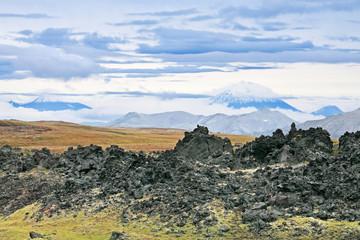 Volcanic lava, Kamchatka landscape