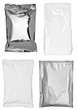 white silver aluminum paper bag package food template