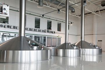 Mash vats, the interior of the brewery, nobody