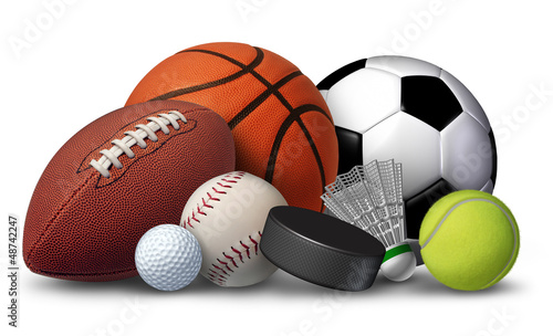 Leinwanddruck Bild Sports Equipment