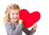 Fototapety Little girl holding heart
