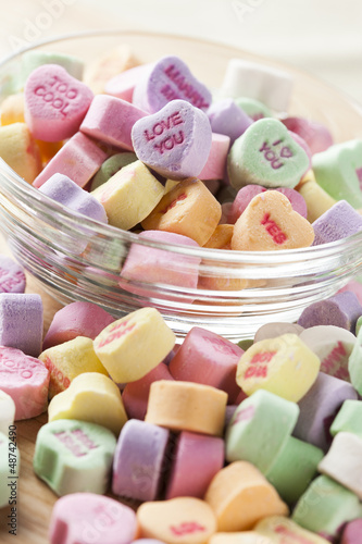 Colorful Conversation Hearts Candy
