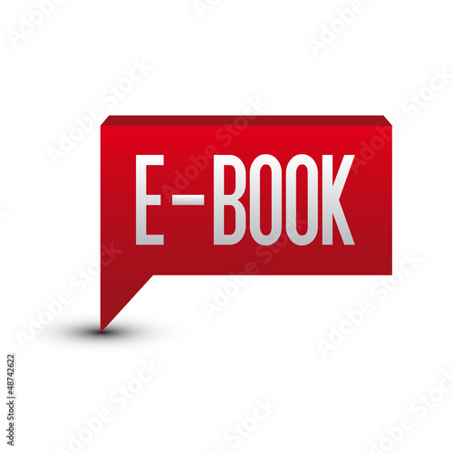 Ebook tag button red