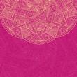 Pink Vintage Card with Half Mandala Element