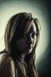 Women's dark portrait