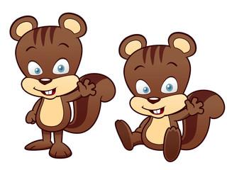 illustration of Cartoon squirrel