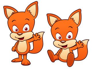 illustration of Cartoon Fox