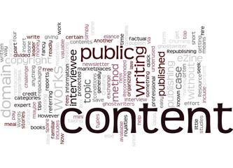 Churning out eZine Content Concept
