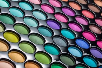 Eye shadows palette background