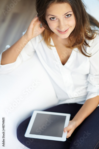 Girl with touchpad