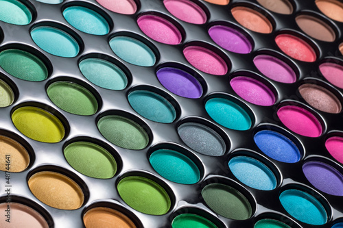 Eye shadows palette background