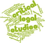 Word cloud for Critical legal studies poster