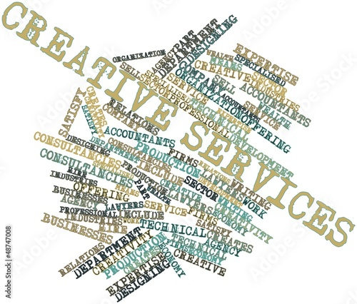 Word cloud for Creative services