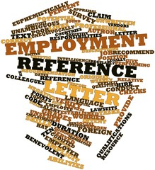 Word cloud for Employment reference letter