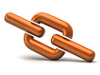 Orange chain icon