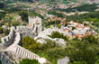 Aerial view of Sintra city, Portugal