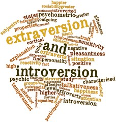 Word cloud for Extraversion and introversion