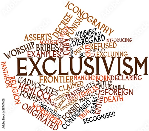 Word cloud for Exclusivism