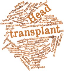Word cloud for Head transplant
