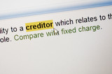 Highlighted word Creditor poster