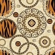Abstract seamless background with tiger skin pattern