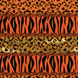 Abstract  background with tiger and cheetah skin pattern