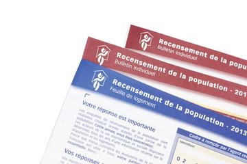 feuilles de recensement