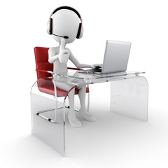 3d man call center ready to help